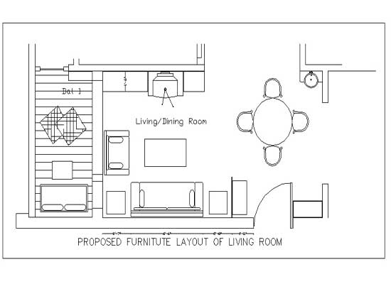Bedroom Interior Cad Drawing